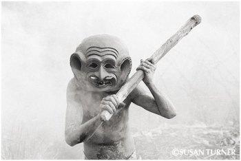 An Asaro Mudman in Smoke