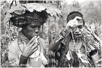An Enga Woman Dressing for a Singsing