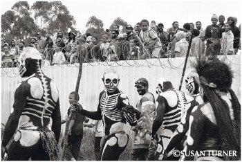 Skeleton Dancers at the Mt. Hagen Cultural Show