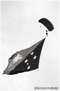 The PNG Flag Flying