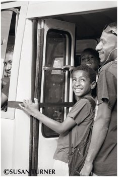 Sanjee on His Way to School
