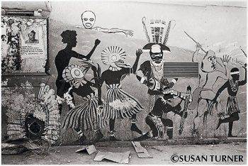 Mural with Traditional Dancers