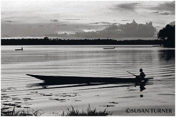 Dusk on Boset Lagoon